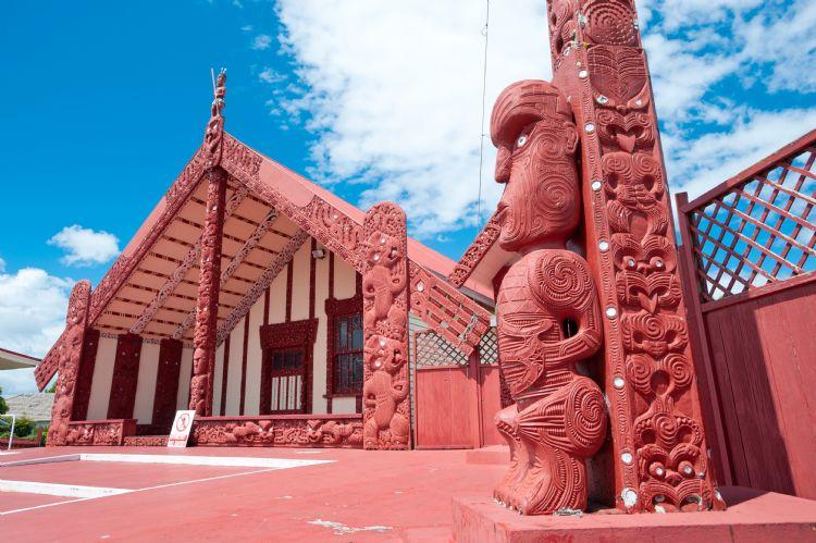 Marae maori à Rotorua