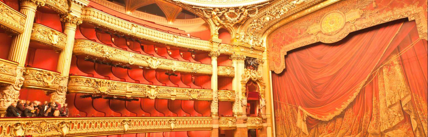 Intérieur de l'opéra Garnier à Paris